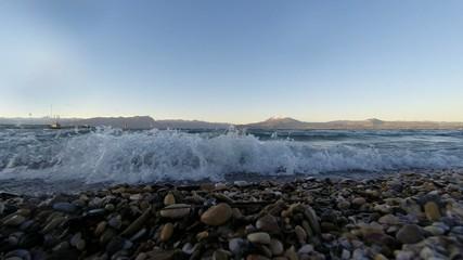 waves on the Lake Garda