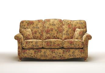 Sofa settee on white