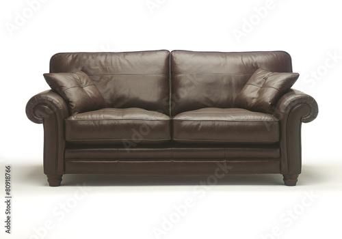 Leather sofa settee