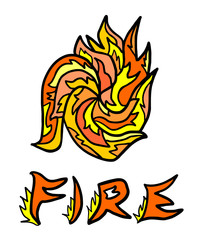 abstract fire symbol