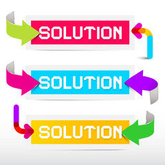 Solution Colorful Stickers - Labels Set with Arrows