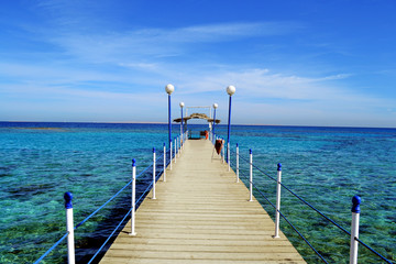 Pier on the shores of the Red Sea