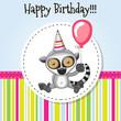 Lemur with balloon