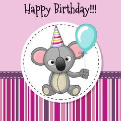 Koala with balloon