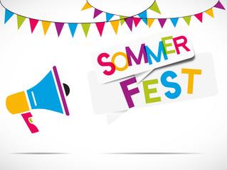 megaphone : sommer fest (deutsch)