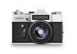 Old photo camera. Vector - 80922342
