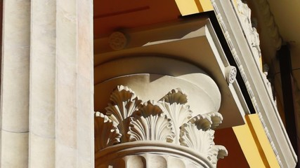 Beautiful capital of column