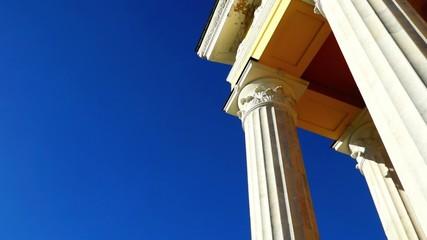 Classic theater columns pan