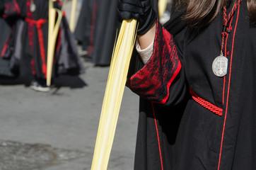 Black robe detail