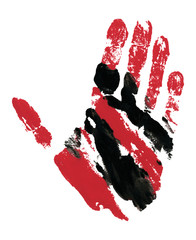 Red and Black Hand Track