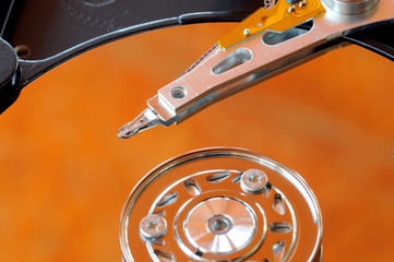 A hard disk drive is a data storage device used for storing and