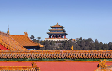 Roofs of the Forbidden city in Beijing