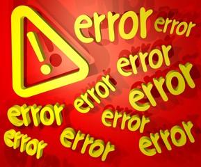 error advise
