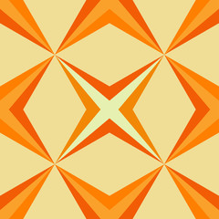 bright seamless pattern with orange tone diagonal sharp crosses