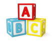 ABC building blocks isolated - 80924989