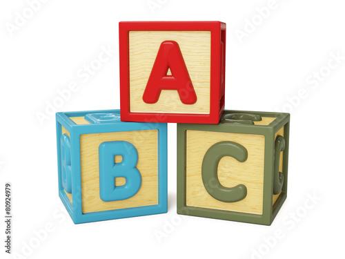 ABC building blocks isolated - 80924979