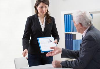 Start of job interview