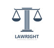 Justice scales lawyer logo - 80926344