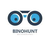 Binocular vector logo or symbol icon