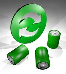 recycle battery symbol