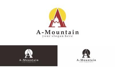 Mountain Trip  Logo Vector