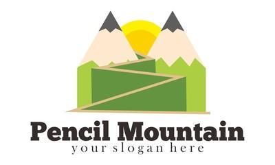 Mountain art  Logo Vector