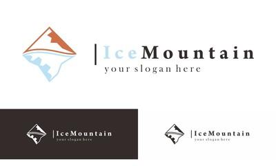 Ice Mountain Trip  Logo Vector