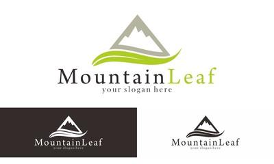 Mountain Leaf Trip  Logo Vector