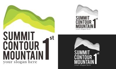 Summit Mountain Trip  Logo Vector
