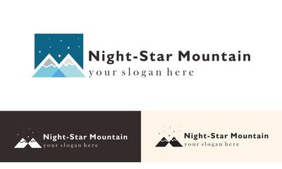 Mountain Night Trip  Logo Vector