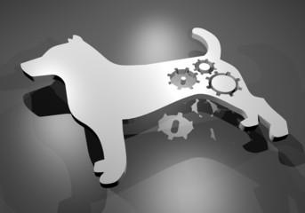 white robot dog