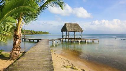 Pier on Boca del Drago beach, Panama