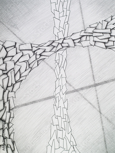an abstract drawing - 80927570