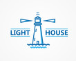 Lighthouse vector logo or symbol icon - 80927730