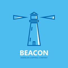 Lighthouse design logo