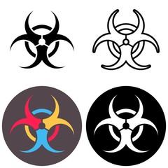 Vector biohazard icons