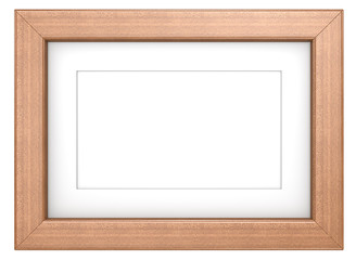 Wooden frame with Passepartout. Mahogany, isolated.