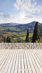 Terrasse in der Toskana
