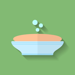 Icon of Soap. Flat style