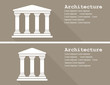 Greek temple icon vector illustration flat - 80931915