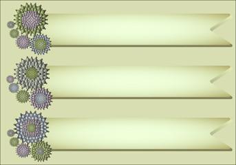 Flower vector frames