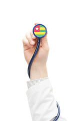 Stethoscope with national flag series - Togo
