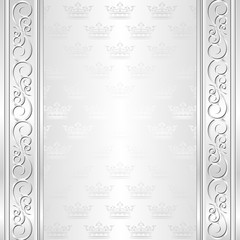 ornate background with crowns pattern