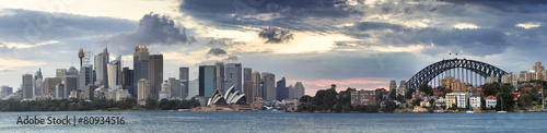 Poster Oceanië Sydney CBD Cremorne Tele pan
