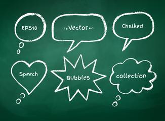 Chalked bubble-talks.
