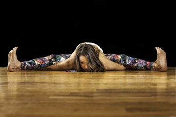 Female Yoga Model Kurmasana Tortoise Pose