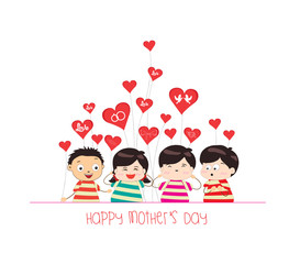 happy mother day with kid funny
