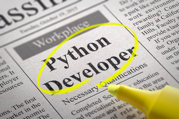 Python Developer Vacancy in Newspaper.