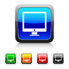 White Computer icon