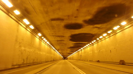 Driving Into a Tunnel